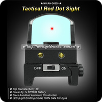 New Reticle Red Dot Tactical Reflex Sight Scope W/Mount 20mm