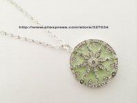 wholesale women gift  hot selling ts whole sale price ta0086 Wheel of Karma green glass