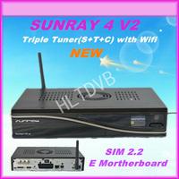 sunray triple tuner SR4 V2 Wifi 3 in 1 satellite receiver Sunray sr4 800 se Sim2.20 sr4 v2 Enigma2 System by DHL Free Shipping