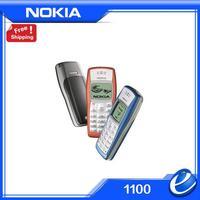 HOT cheap original Nokia 1100 unlocked GSM mobile phone with russian menu multi Languages! free shipping Refurbished