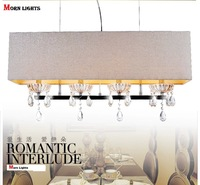 Dining room Light  pendant light rectangle crystal lamp modern brief crystal lighting lamps