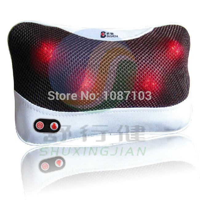 Pescoço e lombar massagem shiatsu com função de calor elétrica e carro travesseiro massageador(China (Mainland))