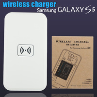 100pcs qi wireless charger mobile phone charging suit for samsung galaxy s5 G900H charging pad +receiver adapter S 5 free DHL