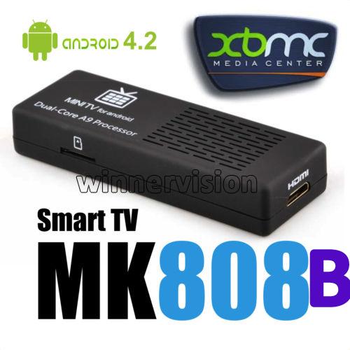 2pcs /lot !! MK808 Bluetooth MK808B RK3066 Dual Core Andriod TV Box 1GB RAM 8GB ROM Mini PC 1080p HDMI WIFI Android TV Stick(China (Mainland))
