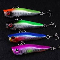 8PCS/lot popper Fishing lure 7cm/6.2g artificial fishing protein wobbler pesca poppers topwater hard bait fishing tackle