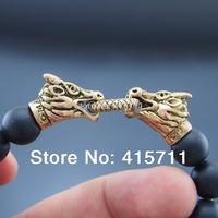AB-008 Men bracelet fashion male vintage accessories parataxis gold dragon bracelet men jewelry