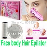 Keda Body Face Facial Hair Remover epilator for women Electric Face Cotton Thread Defeather Epilator Shaver KM-2777 depilator