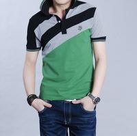 2014 summer men's  personality 100% short-sleeve cotton t-shirt,  plus size 4xl.5xl hot-selling men's clothing