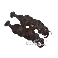 "110g/pc Brazilian Body Wave Human Hair Extensions Wavy Human Hair Weaving Weft 4 Small Bundles/PC 3Packs/lot 18"" Natural Color"