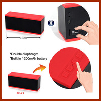 80pcs Intelligent voice wireless Bluetooth handsfree powerful double diaphragm stereo sound speakers D501with tf slot