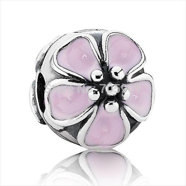 rosa fiori di ciliegio fibbia argento 925 european fascino tallone per x321 braccialetto orecchini ad anello set di gioielli