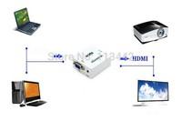 10pcs/lot wholesale high quality MINI VGA to HDMI Converter box with audio brand new