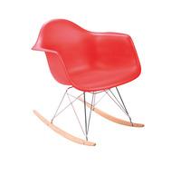 1 piece PP plastic seat , chromed steel and  wood  leg Eames RAR rocking chair