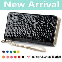 new2014 fashion high quality Coin Crocodile mobile phone bag billfold Women's Bag wallets handbags clutch purses designers brand