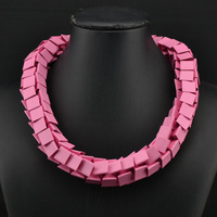 ZA 2014 summer women necklaces & pendants geometry statement necklace chunky choker necklace jewelry accessories 8934