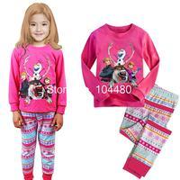 Frozen Princess girls children's clothing sets,long sleeve kids pajama sets child's clothes set,toddler baby sleepwear suit