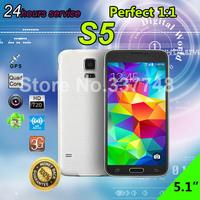 "2GB RAM 16GB ROM mobile phones 1:1 5.1 inch S5 phone mtk6582 Quad Core 1.6GHz 2GB RAM 13MP i9600 g900 Smartphone 5"" 3G WCDMA"