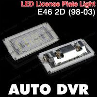 2Pcs/Set LED License Plate Light White For BMW E46 2D (98-03).Free shipping