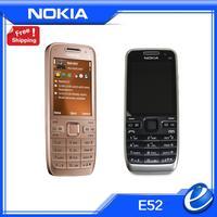 original Nokia E52 Mobile Phone Camera 3.2MP Bluetooth WIFI GPS Unlocked original E52 Cell Phone Support Arabic Russian Keyboard
