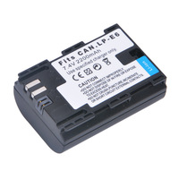 High Quality 2200mAh LP-E6 LPE6 Camera Battery Half Coded Version for Canon 6D 5D Mark III 5D Mark II 7D 60D