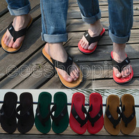 PO080 New Arrives Summer Beach Men's Flat Sandals Leisure Soft Flip Flops Slippers Shoes For Men Size 40-44