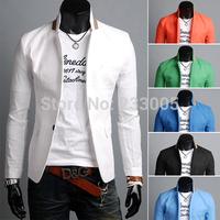 Terno Masculino 2014 Fashion Brand Mens Patchwork Designs Linen Slim Fit Casual Suits For Men Blazer Jacket Men's Blazers Suit