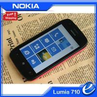 710 Nokia Original Lumia 710 Windows OS Mobile Phones 8GB Storage Camera 5.0MP GPS Wifi Unlocked 710 Cellphone refurbished nokia