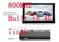 7 inch Gps navigation car navigator metal Edge 800MHZ 4GB DDR 128MB 800*480 Windows CE6.0 Czech\Hebrew\Bulgarian\Polish\Spanish