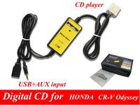 Car Digital CD Player mp3  Changer USB + AUX AUDIO cable adapter For Honda Accord Civic Odyssey S2000