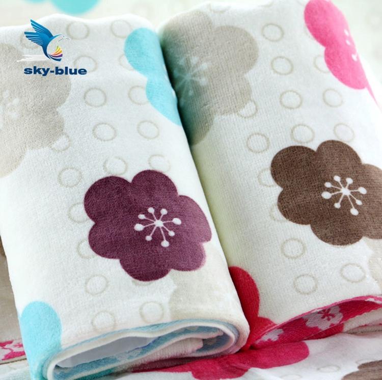 34cm*75cm 100% cotton soft beach bulk cheap Couple cherry towel fiber FACE Towel 4pcs/lot 100% bamboo cotton towels set T0076(China (Mainland))