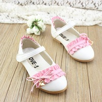 2014 spring charming child leather wedges princess single shoes girls dance shoes shoes
