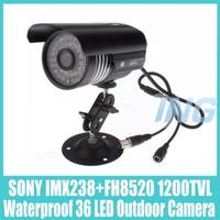 "Waterproof Outdoor Security Camera 1/3"" SONY IMX238 + FH8520 1200TVL CCTV Camera 36 LED IR Bullet Night Vision Camera Cam System"