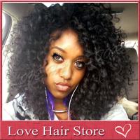 Short curly wig ! 150 density virgin brazilian kinky curly wig glueless full lace short human hair curly wigs for black women