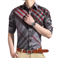 Stripe summer 100% cotton business casual short-sleeve shirt slim male