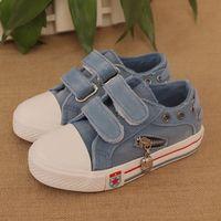2014  Boys/Gilrs canvas shoes low gluing sneaker shoes children fashion sneaker shoes kids kilen sport Denim shoes