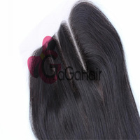 "Queen Hair Products Brazilian Hair Silky straight  Human Hair Lace Top Closure(4""*4"") 8""-18"" Swiss Lace three part UPS Free Ship"