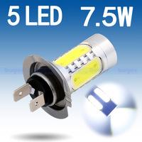 2pcs H7 led High Power 7.5W 5LED Pure White Fog Head Tail Driving Car Bulb led lamp car V2 12V H7 7.5W  car light source parking