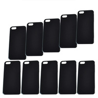 20pcs/lot Clear / White / Black Blank Flat Case for iPhone 5