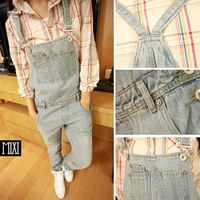 2014 new spring and summer Korean style women jumpsuits casual loose denim jumpsuit women free shipping P131
