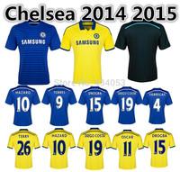 14 15 Top Thai Quality Chelsea Home Away Soccer Jersey TORRES DIEGO COSTA FABREGAS HAZARD TERRY OSCAR BA Football Shirt  Jersey