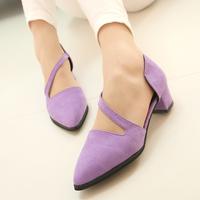 2014 high-heeled thick heel single shoes women's shoes fashion shallow mouth women sandals,SHO2095