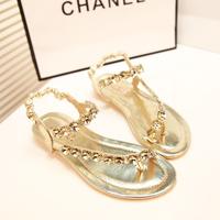 Summer rhinestone fashion sandals flat heel women casual sandals flat casual ladies shoes,SHO2110