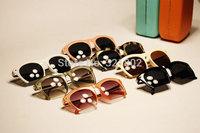 Hot Sale 2014 New Fashion sunglass Frog Mirror Sunglasse Men Women Loved Unisex Sunglasses with box Free shipping