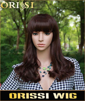 2014 Fashion high quality  cheap Heat resistant synthetic fiber  Curly long  Wigs for  Women BEN-008