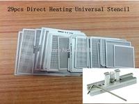 27pcs BGA Reball Reballing Stencil Template Direct Heating Universal Stencil with Direct Heating Reballing Station Jig