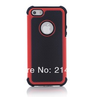 3 in 1 Hybrid Rugged Heavy Duty High Impact Hard Case Cover For iPhone 5 / 5S protective shell Free shipping +touch pen