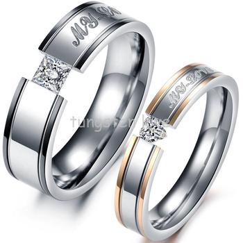 """Ювелирные изделия обручальные кольца для мужчин и женщин любителей из нержавеющей стали с гравировкой обещание """" моя любовь """" пара обручальные обручальные кольца"""