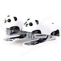 High quailty 2pcs Lovely Cartoon Panda Design Economical Mini Stapler + Staples Set