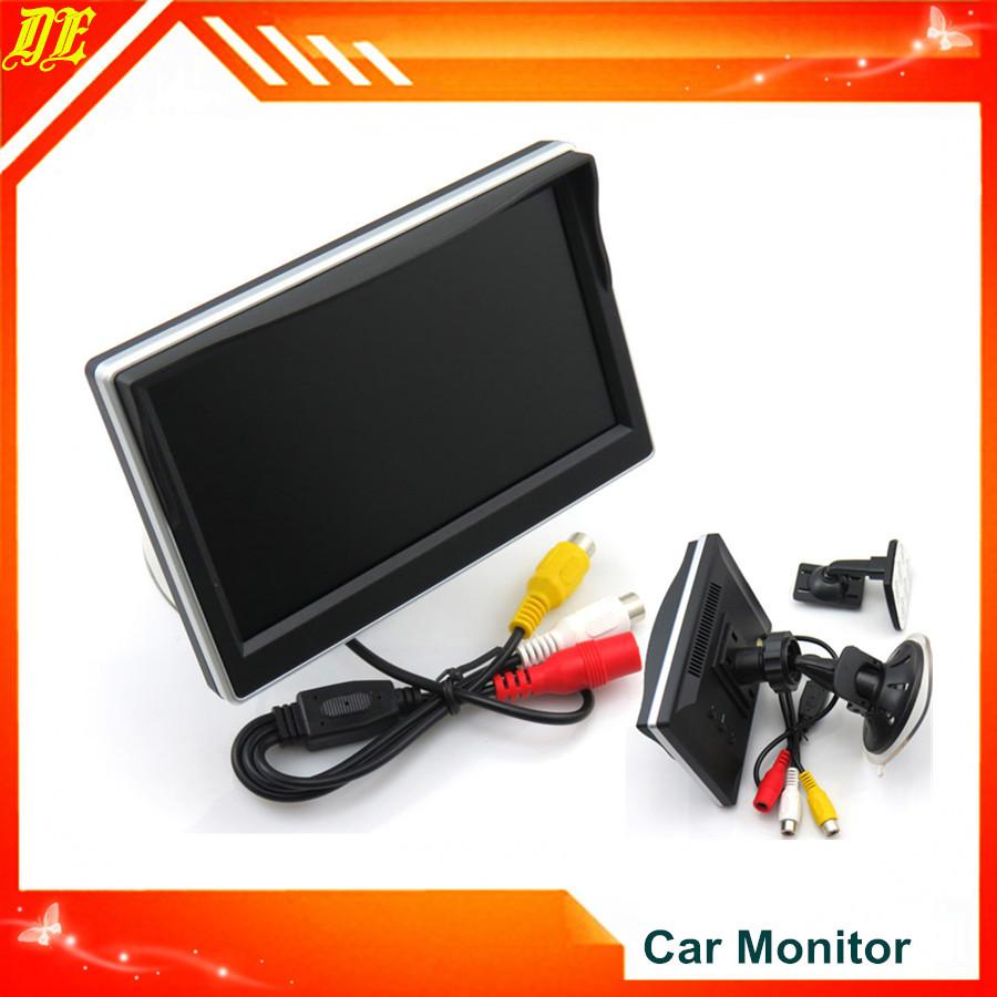 New 5'' LED Monitor Sunshade Car Monitor TFT Rearview Camera LED Car Rear View Monitor for Car Backup System(China (Mainland))