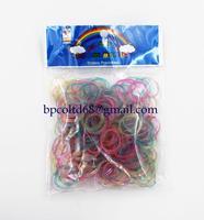 100 pack/lot 2014 New loom bands glitter rubber bands (200PCS rubber band +12 PCS S + 1 hooks )